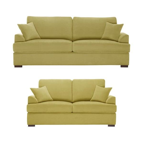 Żółty dwuczęściowy komplet wypoczynkowy Jalouse Maison Irina