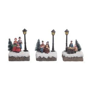 Zestaw 3 dekoracji świecących InArt Village