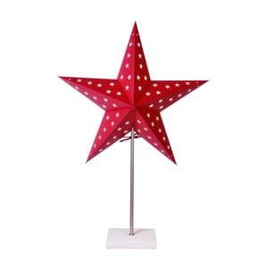 Świecąca   gwiazda ze stojakiem Best Season Star On Base Red