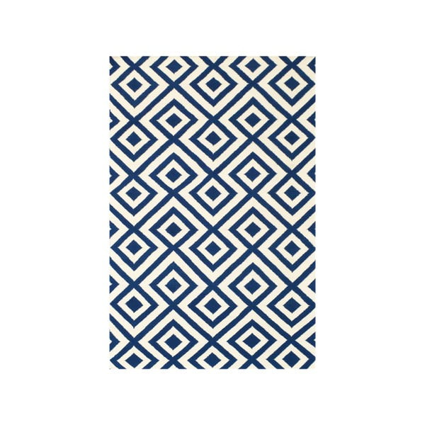 Dywan wełniany Luisa Dark Blue, 240x155 cm