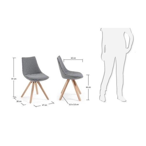 Czarno-białe krzesło La Forma Armony