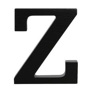 Czarna drewniana litera Typoland Z