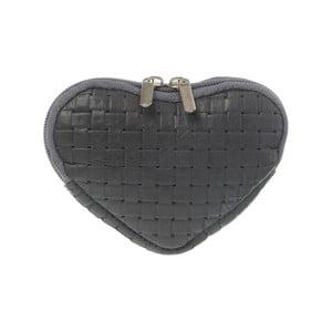 Zamszowa portmonetka Heart Grey