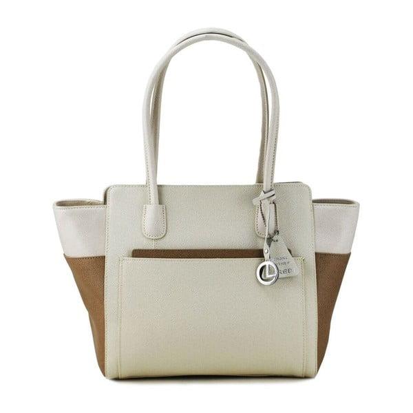 Skórzana torebka Cassidy Beige/Taupe