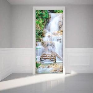 Naklejka   elektrostatyczna na drzwi Ambiance Waterfall