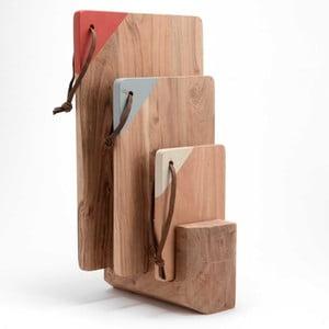 Zestaw 3 desek ze stojakiem Amadeus Woods