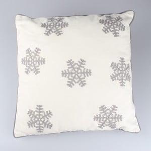 Biała poszewka na poduszkę Dakls Snowflakes 40x40 cm