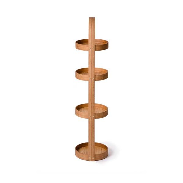 Stojak/szafka łazienkowa Caddy Bamboo, 4 półki