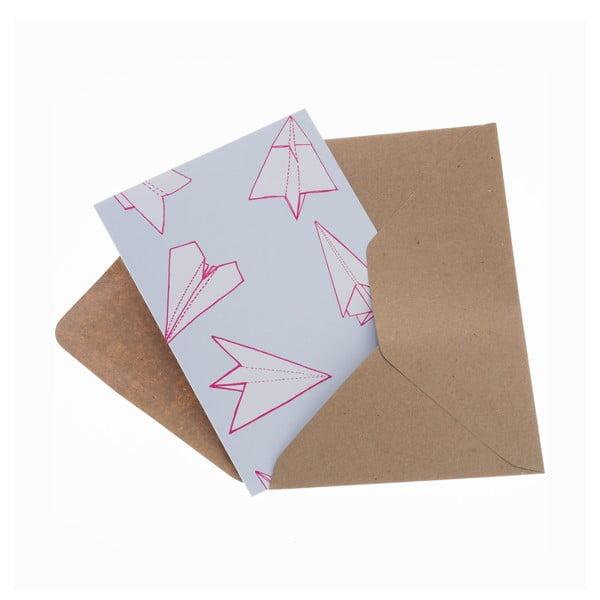 Komplet 6 kartek na życzenia Planes