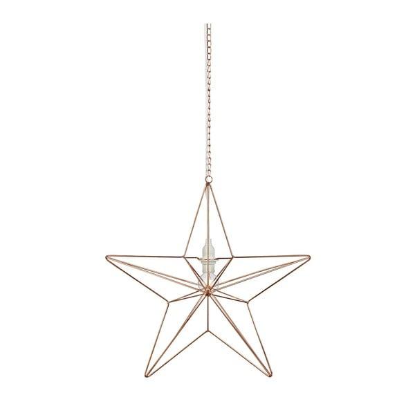 Świecąca dekoracja wisząca Markslöjd Tjusa Star Copper