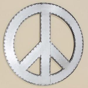 Dekoracja naścienna Peace, 71 cm
