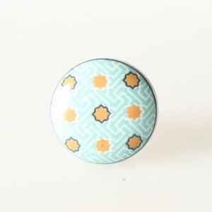 Gałka porcelanowa Blue Dots