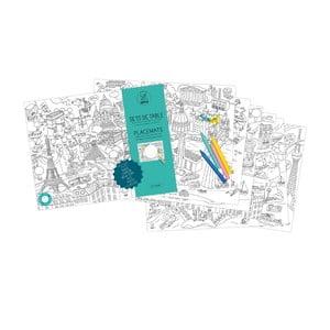 Mata stołowa – kolorowanka dla dzieci City Map, 24 sztuki
