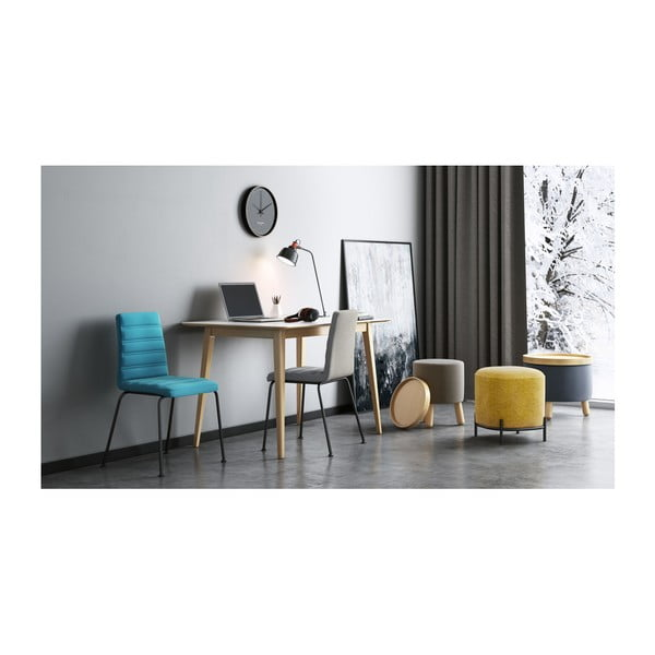 Szary stołek ze zdejmowanym blatem Garageeight Molde , ⌀ 35 cm
