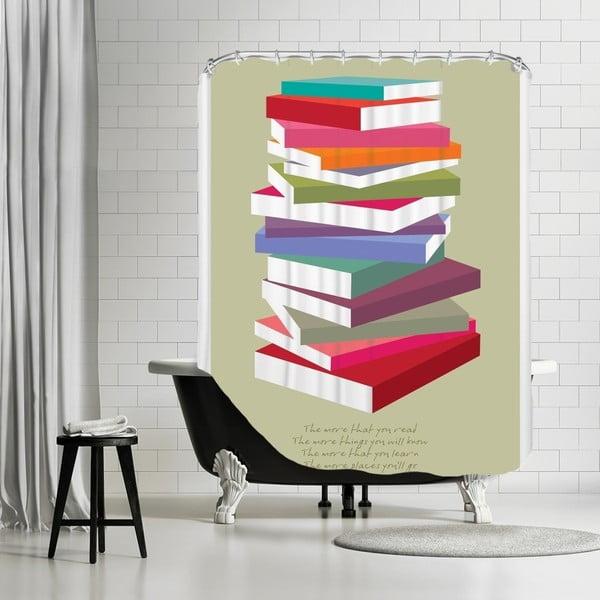 Zasłona prysznicowa Dr Suess Books Pile, 180x180 cm