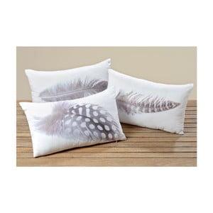 Komplet 3 poduszek Feather 50x30 cm