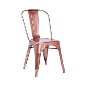 Zestaw 2 krzeseł w miedzienej barwie Leitmotiv Dazzle