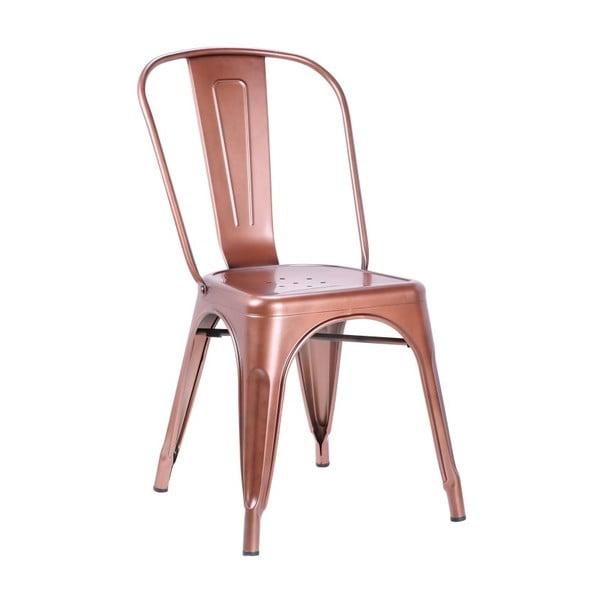 Krzesło w miedzianej barwie Leitmotiv Dazzle