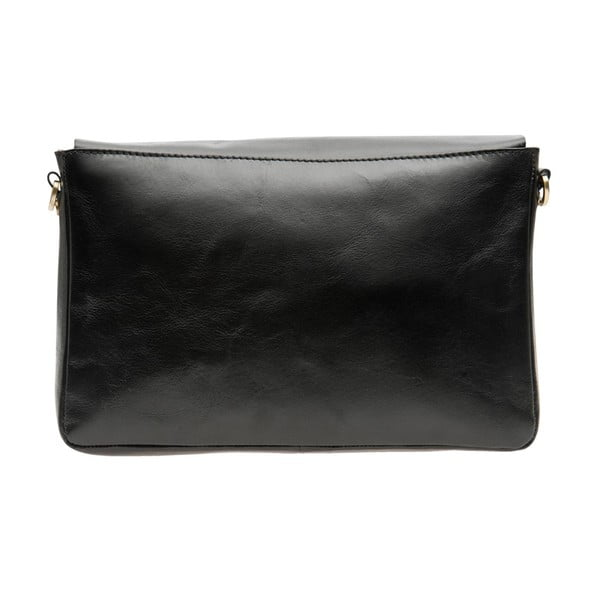 Skórzana torebka Ally, czarna