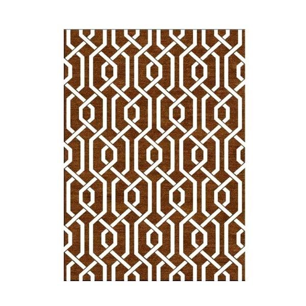 Ręcznie tkany dywan Camila Brown, 155x240 cm