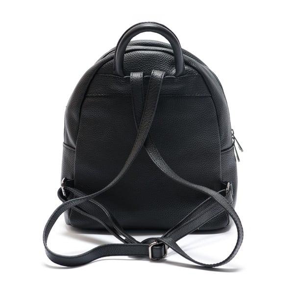 Skórzany plecak Mangotti 1166, czarny