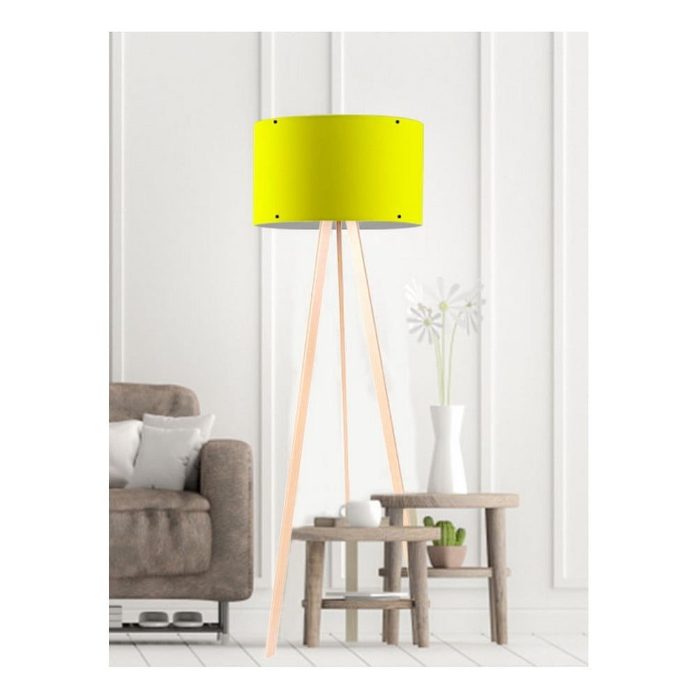 Żółta lampa stojąca Simple