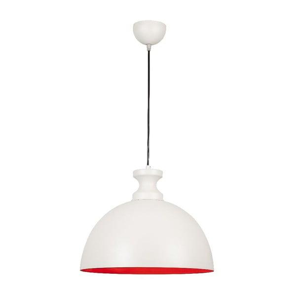 Biała lampa wisząca Simple