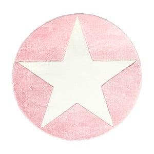 Różowy dywan dziecięcy Happy Rugs Round, Ø 133 cm