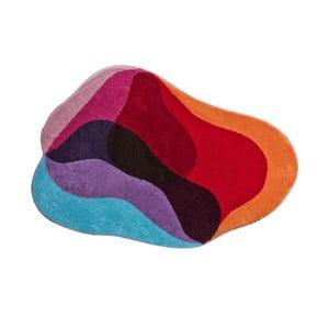 Dywanik łazienkowy Kolor My World XXI 60x60 cm, czerwono-niebieski