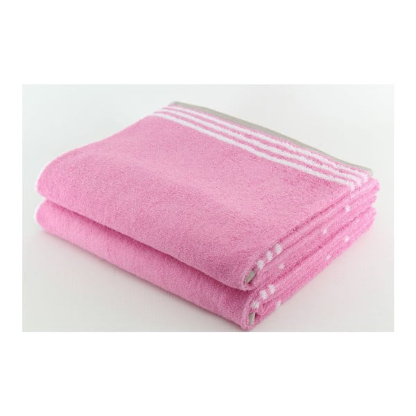 Komplet 2 ręczników Romantic, 70x140 cm