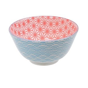 Niebiesko-czerwona porcelanowa miska Tokyo Design Studio Star, ⌀12cm