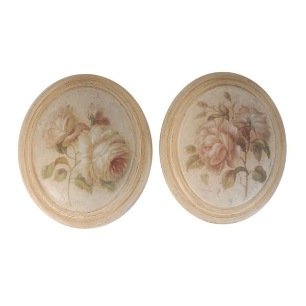 Zestaw 2 obrazów Antic Roses
