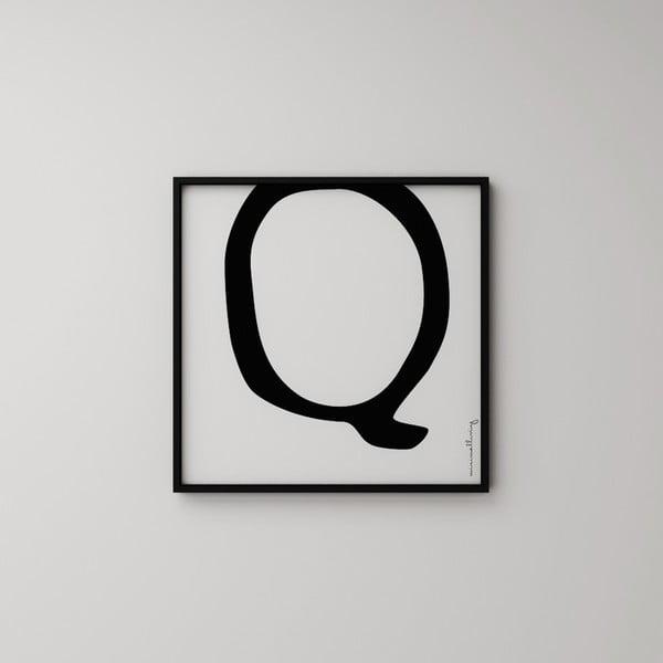 Plakat Litera Q, 50x50 cm