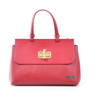 Skórzana torebka Isaure, czerwona