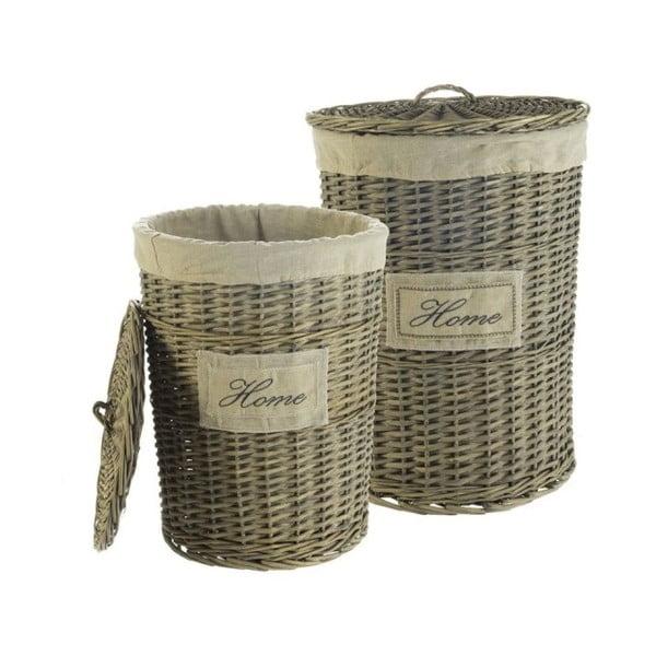 Komplet 2 wiklinowych koszyków Cosas de Casa Chic Home, ciemne