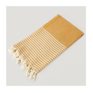 Ręcznik hammam Marine Style Yellow, 100x180 cm