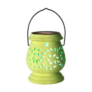 Lampion Solar Energy Clay Lantern Green