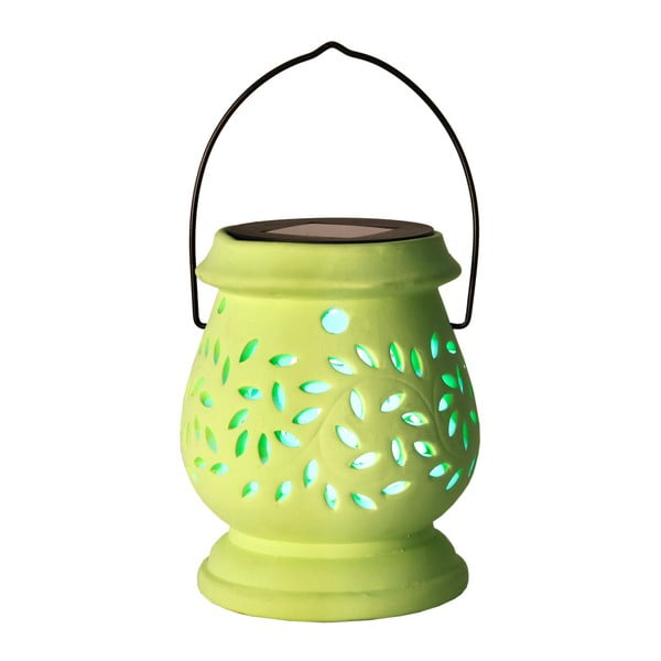 Lampion Solar Energy Clay Lantern Green