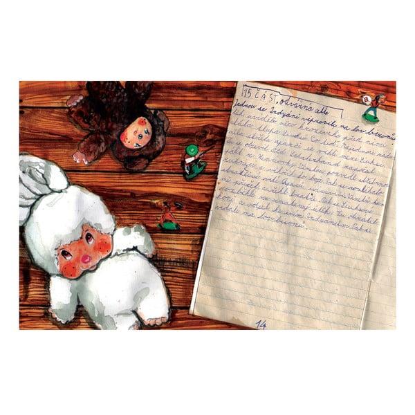"""Plakat autorski Toy Box """"Winnetou podnosi srebrny muszkiet i wzywa do boju"""", 60x39 cm"""