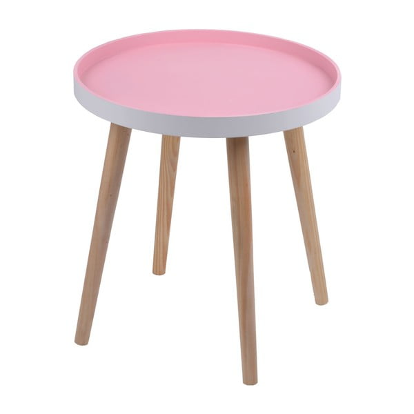 Różowy stolik Ewax Simple Table, 48 cm