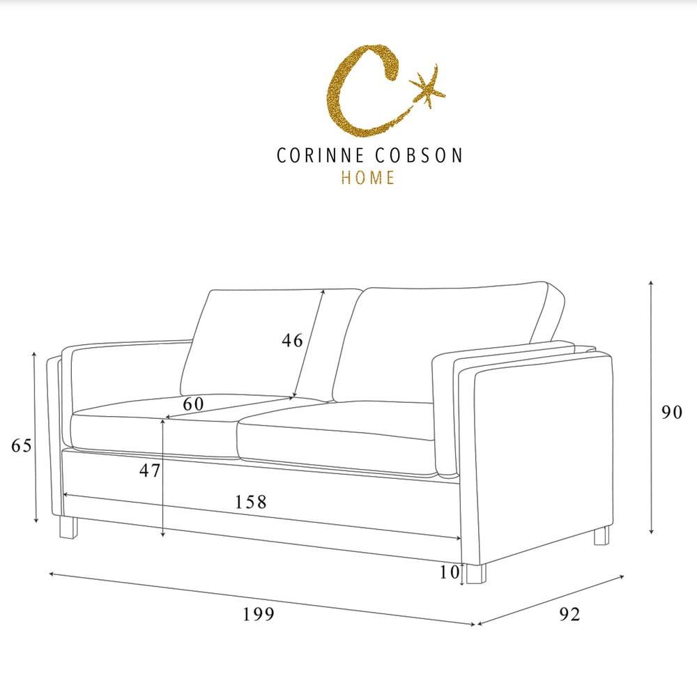 czarna sofa 3 osobowa corinne cobson lipstick bonami. Black Bedroom Furniture Sets. Home Design Ideas