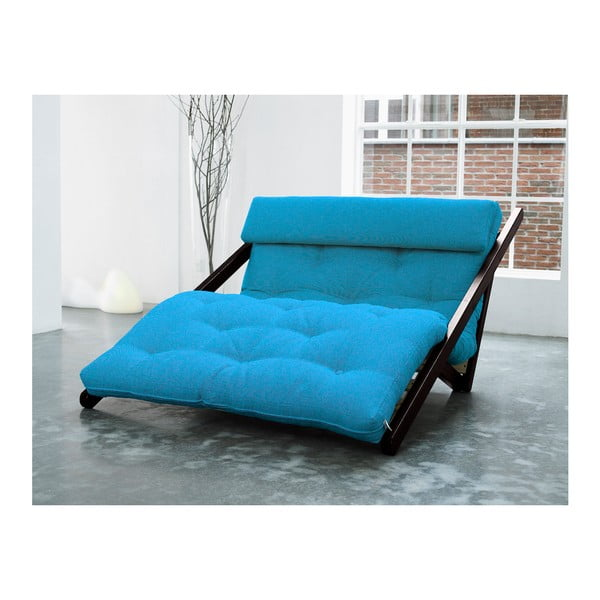 Szezlong Karup Figo, Wenge/Horizon Blue, 120 cm