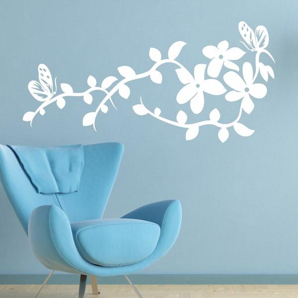 Naklejka ścienna Ornamenty kwiatowe, biel