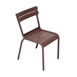 Brązowe krzesło dziecięce Fermob Luxembourg