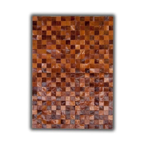 Dywan skórzany Brown Tones, 140x200 cm
