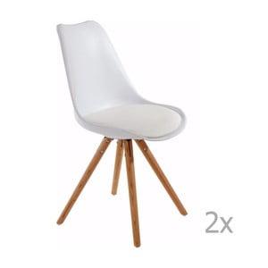 Zestaw 2 białych krzeseł 13Casa Sven