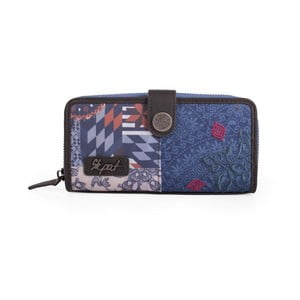 Niebieski portfel SKPA-T, 18 x 9 cm