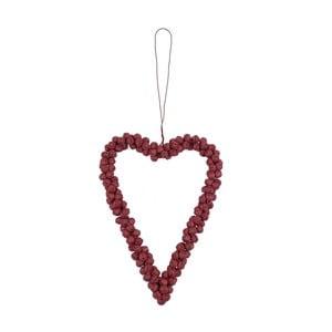 Dekoracja wisząca serce z czerwonych dzwoneczków Ego Dekor