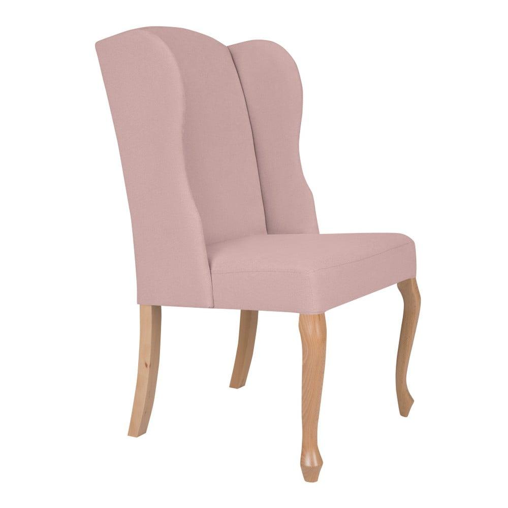 Jasnoróżowe krzesło Windsor & Co Sofas Libra