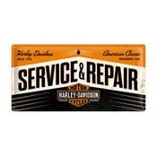 Blaszana tablica Service and Repair, 25x50 cm